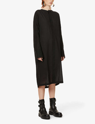 Y's Relaxed-fit cotton and silk-blend dress