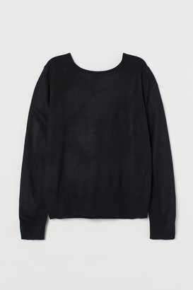 H&M Fine-knit Sweater - Black
