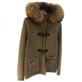 Bark Beige Wool Coat for Women