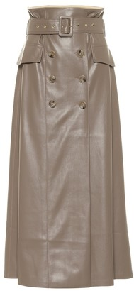 Nanushka Zane faux leather midi skirt