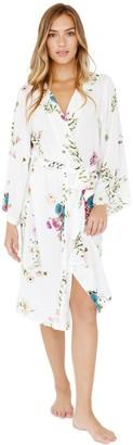 Plum Pretty Sugar White Floral Midi Robe