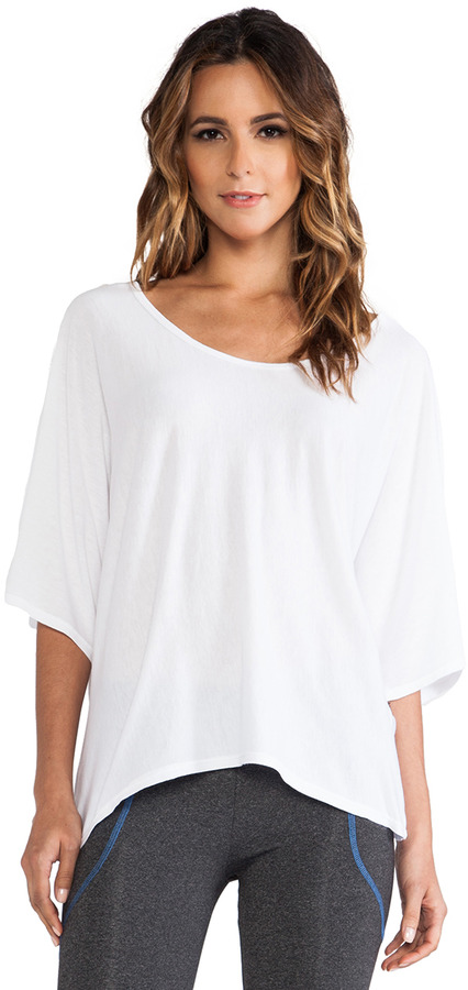 So Low SOLOW Hi-Lo Draped Tee