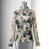 Vera Wang Simply vera watercolor blouse