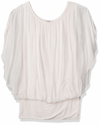 M Made in Italy Women's Missy Long Sleeves Crewneck Stretchy Top