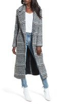 Lovers + Friends Women's Sabra Longline Plaid Coat