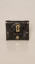 Juicy Couture Black Square Key Wallet