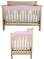 Trend Lab CribWrap Medium 3PC Rail Cover Set By Trend Lab, Jersey Knit Pink