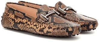 Tod's Exclusive to Mytheresa Double T snake-effect leather loafers