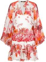 Roberto Cavalli coral reef print dress