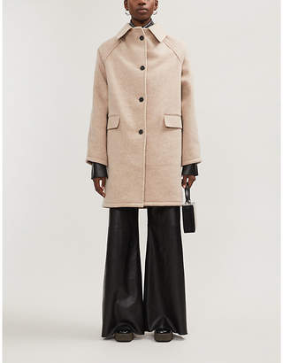 KASSL EDITIONS Button-through wool and cashmere-blend coat
