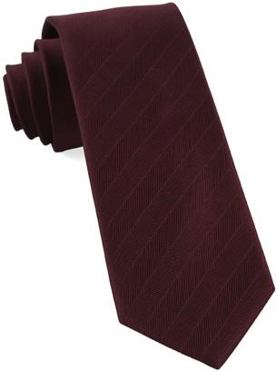 Tie Bar Herringbone Vow Burgundy Tie