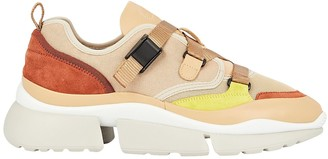 Chloé Sonnie Leather Low-Top Sneakers