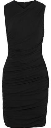 Elie Tahari Atara Ruched Stretch-jersey Mini Dress
