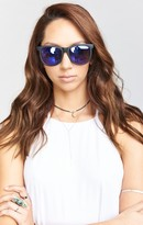 MUMU Crap Eyewear ~ The Nudie Mag ~ Flat Black with Reflective Purple Lenses
