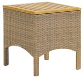 Oxford Garden Torbay End Table Antique Wicker - Teak Top