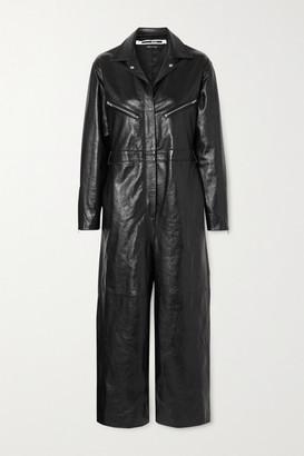 McQ Leather Jumpsuit - Black