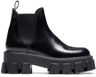 Prada Slip-On Chunky Boots