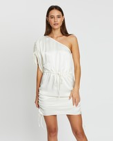 Shona Joy Dalton One Shoulder Ruched Mini Dress