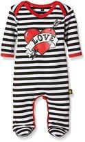 Rockabye Originals Baby Girls 0-24m Loveheart Sleepsuit Romper,3-6 Months