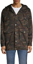 American Stitch Camouflage Faux Fur-Lined Parka