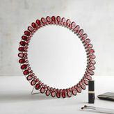 "Pier 1 Imports Red Jeweled 12"" Round Mirror"