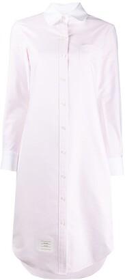 Thom Browne contrasting collar shirt dress