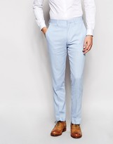 French Connection Linen Suit Trousers In Slim Fit