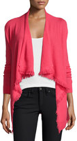 Magaschoni Cashmere Cardigan with Fringe Trim