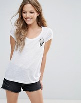 Brave Soul T-Shirt With Ice Cream Sequin Badge