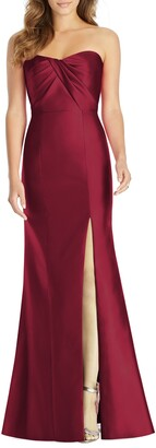 Alfred Sung Sateen Twill Strapless Sweetheart Neckline Gown