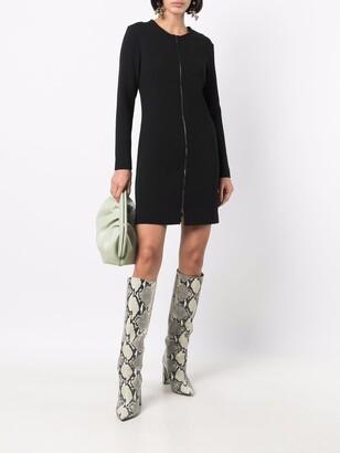 Antonelli Zip-Up Mini Dress
