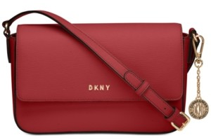 DKNY Bryant Medium Leather Flap Crossbody