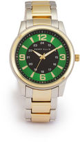 Perry Ellis Two Tone Green Face Watch