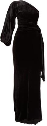 Maria Lucia Hohan Amaris One-shoulder Velvet Dress - Womens - Black