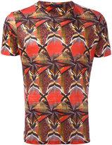 Etro graphic print T-shirt - men - Linen/Flax - M