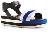 Furla Galtea Color Block Platform Sandals