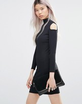Girls On Film Cold Shoulder Bodycon Dress