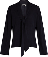 Chloé Tie-neck wool sweater