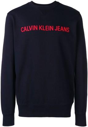 Calvin Klein Jeans logo stitched sweatshirt