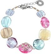 Antica Murrina Veneziana Florinda Top T Transparent Murano Glass Beads Bracelet