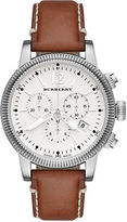 Burberry Utilitarian Leather Chronograph Watch