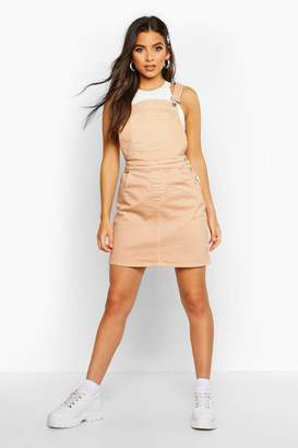 boohoo Denim Pocket Front Pinafore Dress