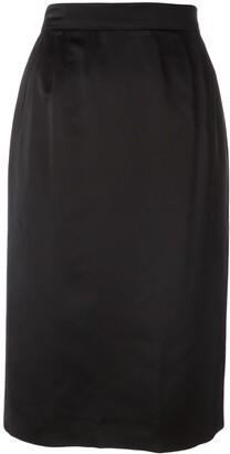 Yves Saint Laurent Pre Owned Classic Pencil Skirt