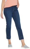 Logo By Lori Goldstein LOGO by Lori Goldstein Petite Straight-Leg Ankle Jeans