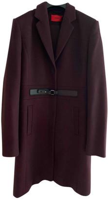 HUGO BOSS Burgundy Wool Coats