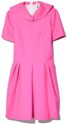 Dice Kayek Full Skirt Dress in Fuchsia