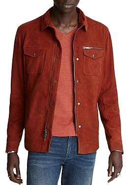 John Varvatos Collection Shilo Suede Regular Fit Shirt Jacket