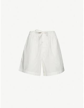 Tekla High-rise organic-cotton pyjama shorts