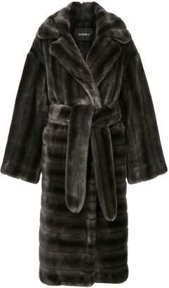 GOEN.J oversized faux-fur coat