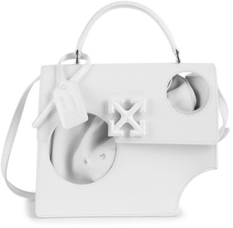 Off-White Jitney 2.8 Meteor Shower Leather Top Handle Bag